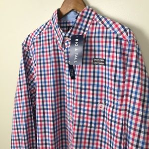 CHAPS Easy Care Long Sleeve Men's Oxford Shirt